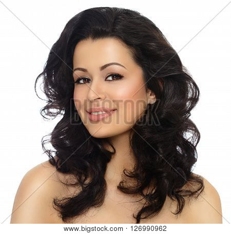 Beautiful Woman With Styled Dark Hair