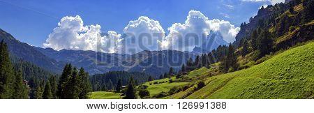 Matterhorn landscape with clouds by day, Zermatt, Switzerland ** Note: Soft Focus at 100%, best at smaller sizes