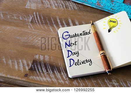 Business Acronym Gndd Guaranteed Next Day Delivery
