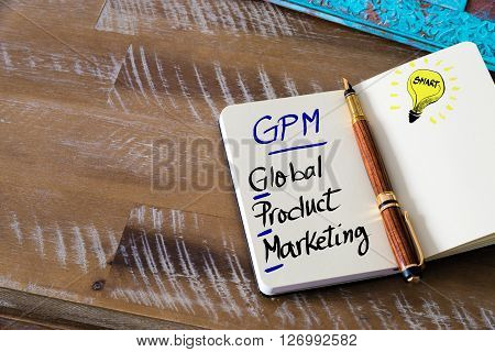 Business Acronym Gpm Global Product Marketing