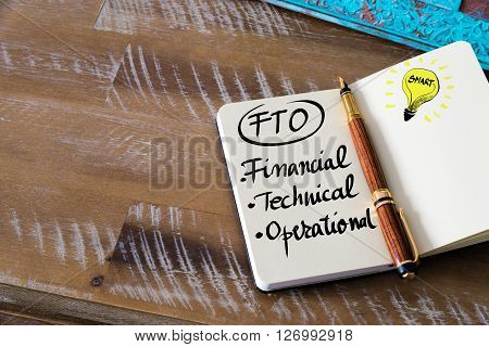 Business Acronym Fto Financial, Technical, Operational