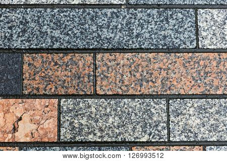 Close up photo of brick wall texture