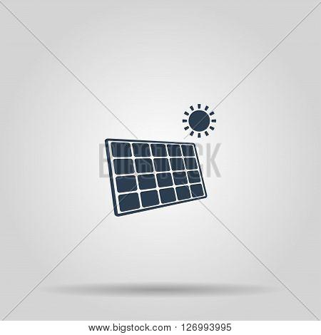 Solar energy panel. Modern design flat style