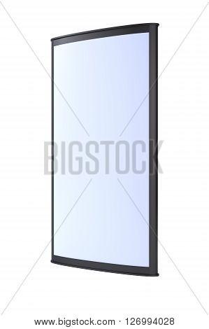 Advertising blank outdoor lightbox on white background. 3d render