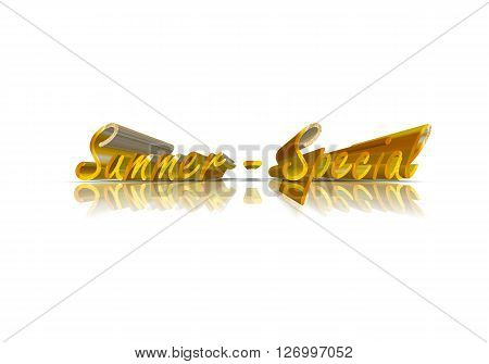 Summer Special -  3D Word with Reflection !