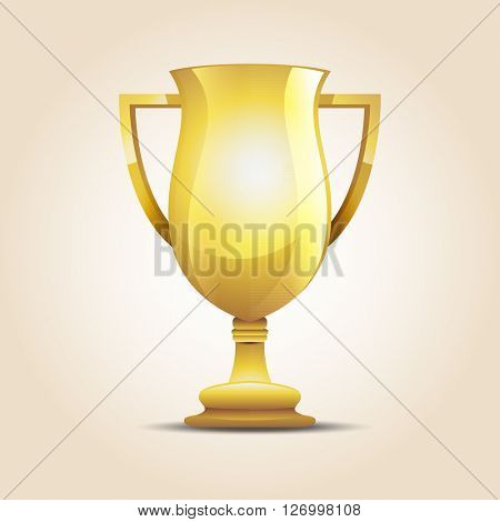 Vector winner cup light background