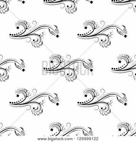 Seamless beautiful pattern. Beautiful white flowers graphics.