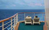 Retired Couple On Cruise Ship