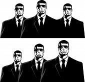 picture of bodyguard  - Three men in black suits - JPG