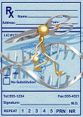 3D Dna Concept Splicing Dna With Large Scissors poster