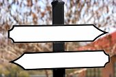 Two Way Sign Post