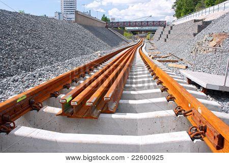 Sitio de construcción del ferrocarril metro