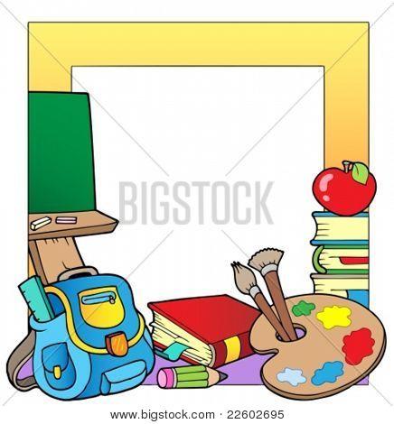 Quadro de tema de escola 2 - ilustração do vetor.