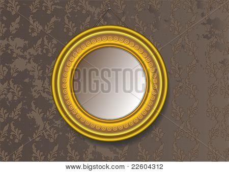 Round Vintage Baguette Frame