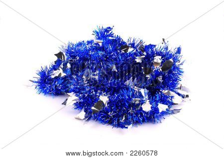 Bunch Of Silver-Blue Garland