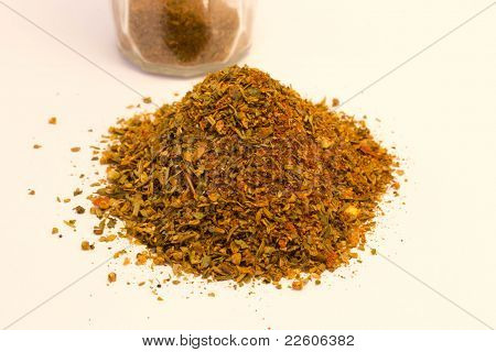 red pepper and oregano