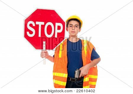 Child Construction Worker