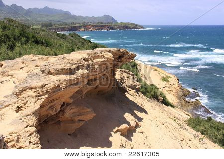 Cliffside ocean view