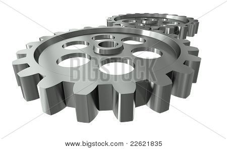 Two metal gears
