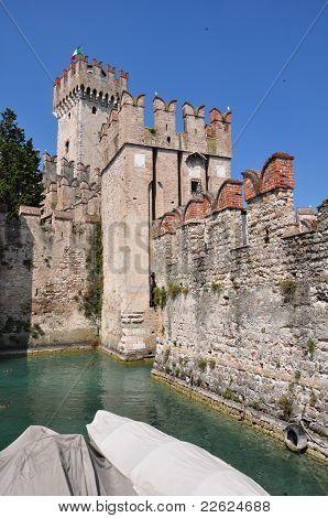 Scaglieri castle in Sirmione, Lago di Garda, Italy