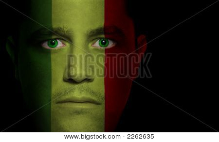 Malian Flag - Male Face