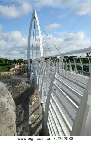 White Pedestrian Bridge