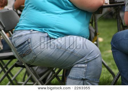 Fat Woman At The Table