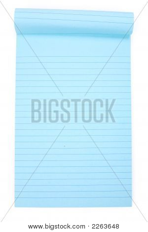 Blue Notepaper