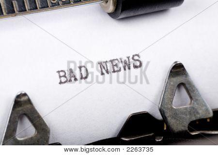 Schlechte Nachrichten