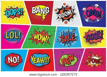 Pop Art Comic Vector Speech
