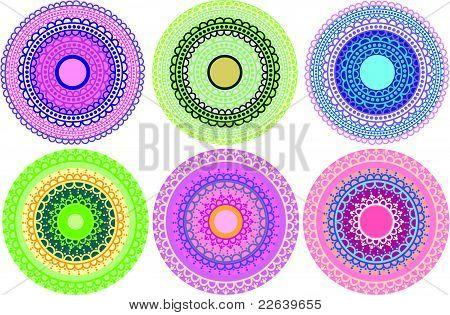 Colourful Henna Mandala Designs