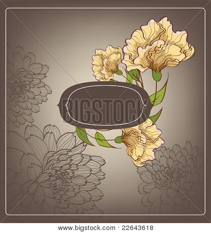 Abstract Background With Decorative Flowers