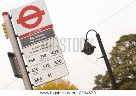 Bus Stop And Lamp Post