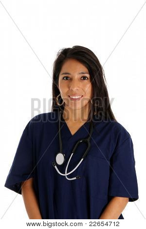 A female nurse set on a white background