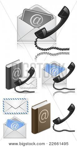 """Contact Us"" Vector Icon Set"