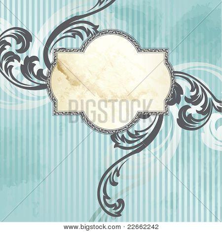 Silver Victorian vintage label