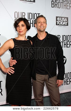 LOS ANGELES - AUG 16:  Cybele Chivian; Adam Pascal arriving at the