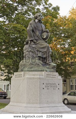 Bronze Statue Of Nathaniel Hawthorne,