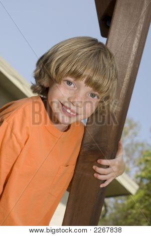 Kid On A Playset