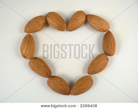 Almonds In Shape Of Heart