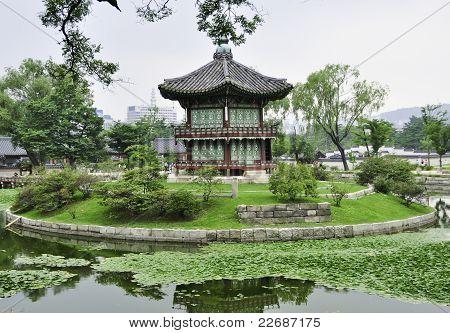 Korean Pogada In A Garden In Seoul
