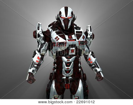 Futuristic battle robot