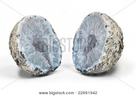 Crystal Geode Divided In Two Parts
