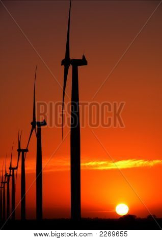 Wind Farm Sunset4