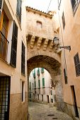 foto of calatrava  - arches of Barrio Calatrava Los Patios in Majorca at Palma de Mallorca Balearic Islands - JPG