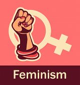 Feminism Concept Female Power. Female Power, Great Design For Any Purposes. Women Power. Female Fist poster