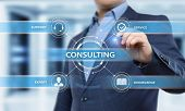 Consulting Expert Advice Support Service Business Concept. poster