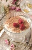 Dessert With Raspberry Close-up poster