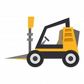 Mini Loader Icon. Flat Illustration Of Mini Loader Icon For Web poster