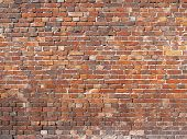 Vintage Masonry. Red Brick Wall, Background For Design poster